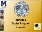 sdsm t tablet program