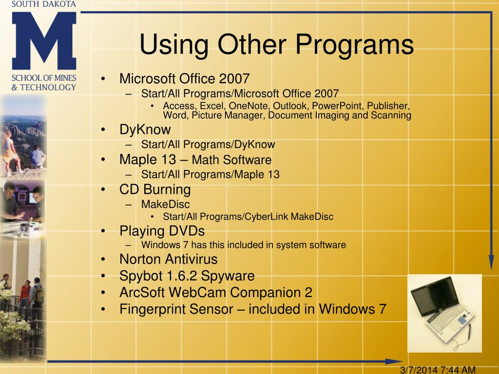 Using Other Programs