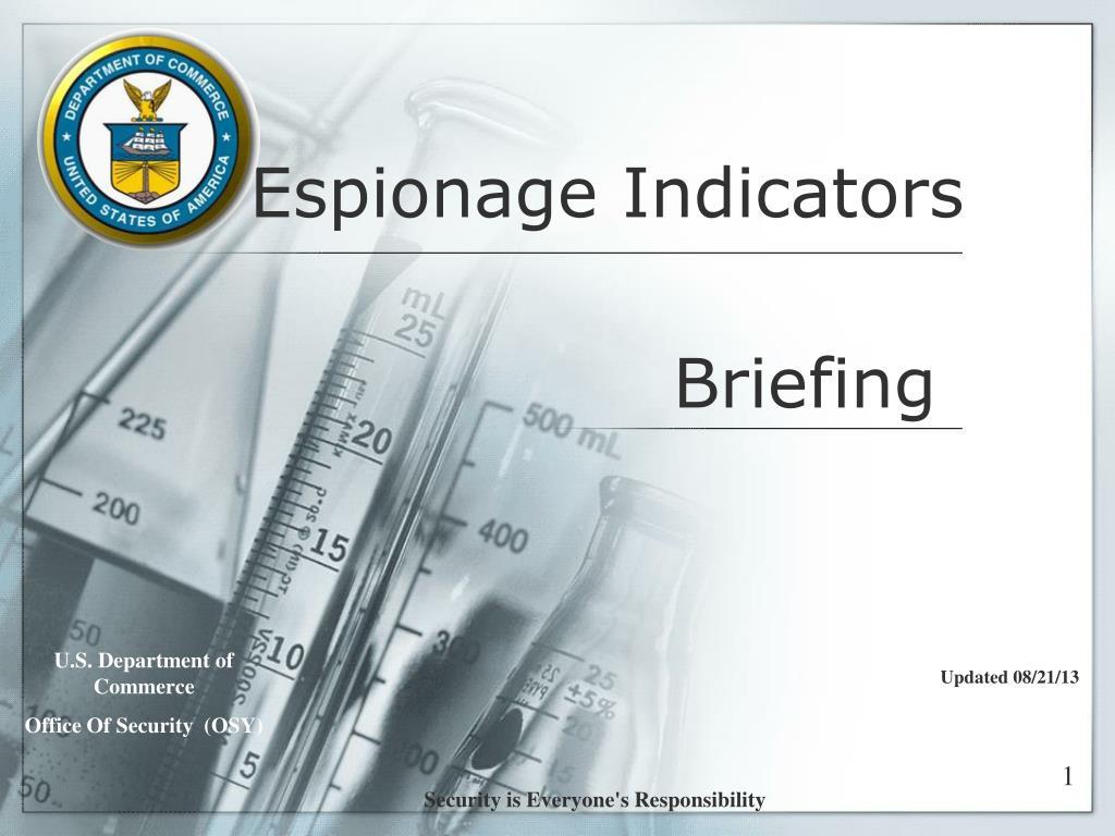 Espionage Indicators
