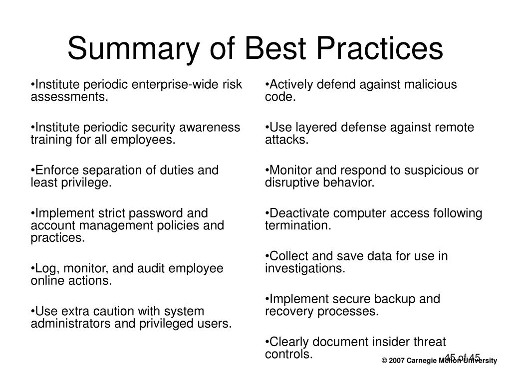 Institute periodic enterprise-wide risk assessments.