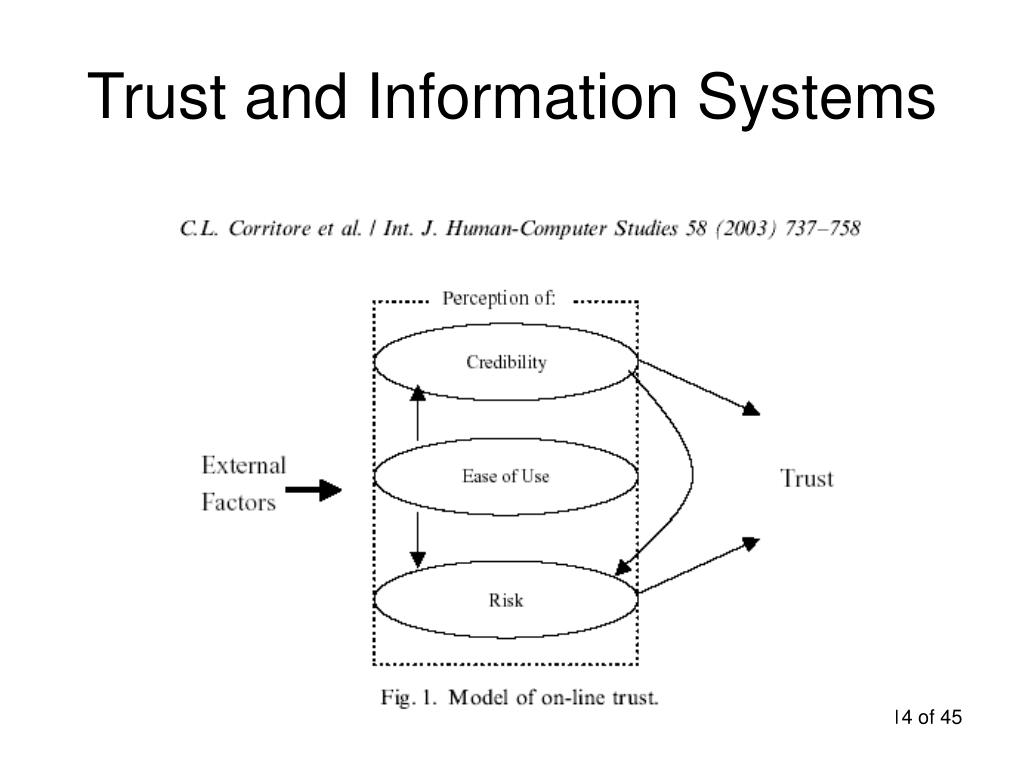 Trust and Information Systems