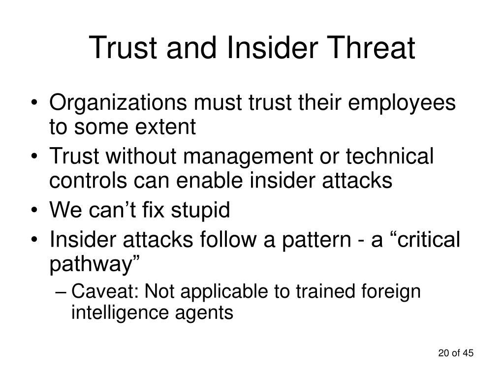 Trust and Insider Threat