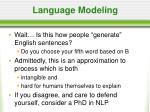 language modeling33