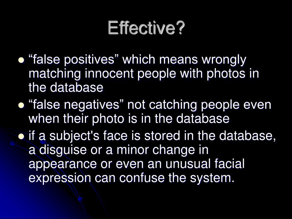 Effective?