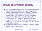 image information display
