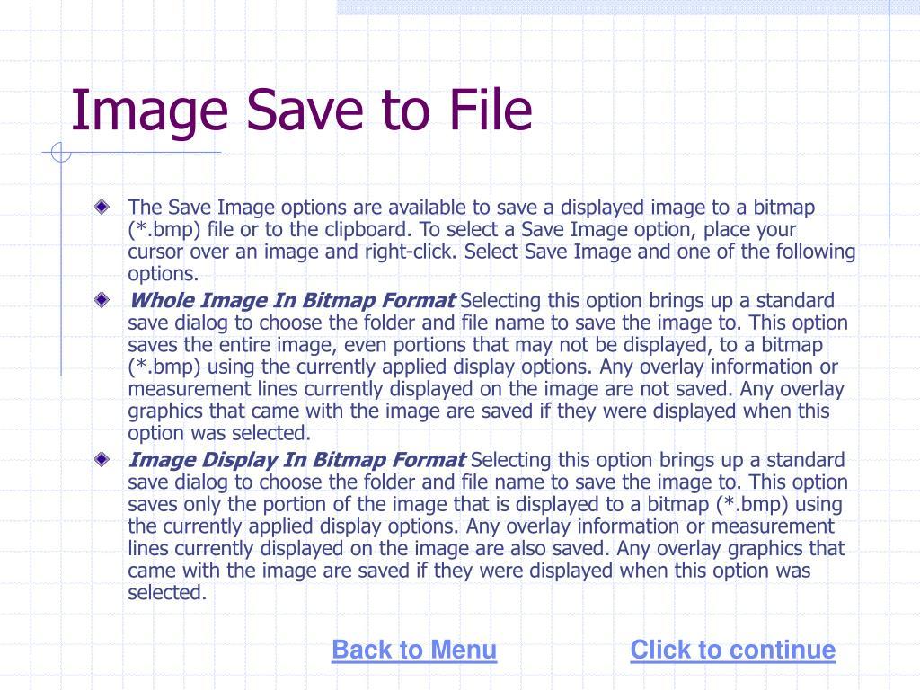 Image Save to File
