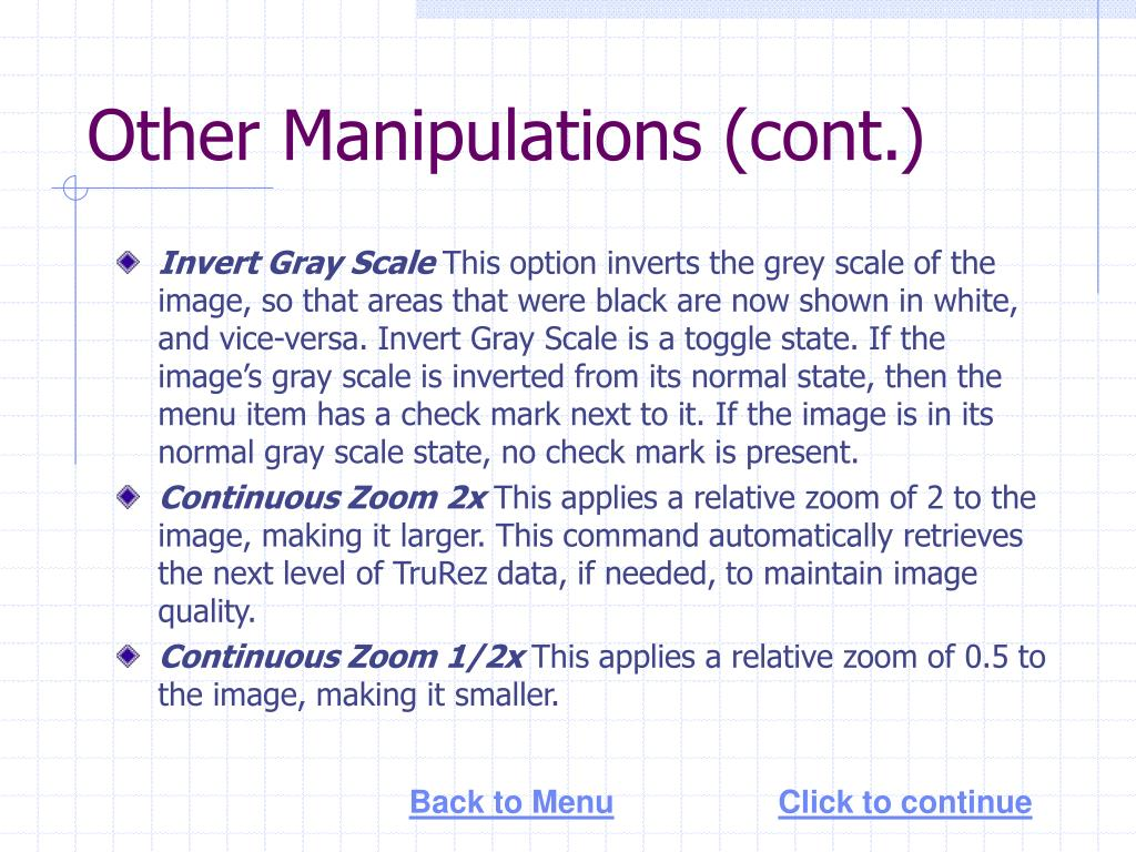 Other Manipulations (cont.)