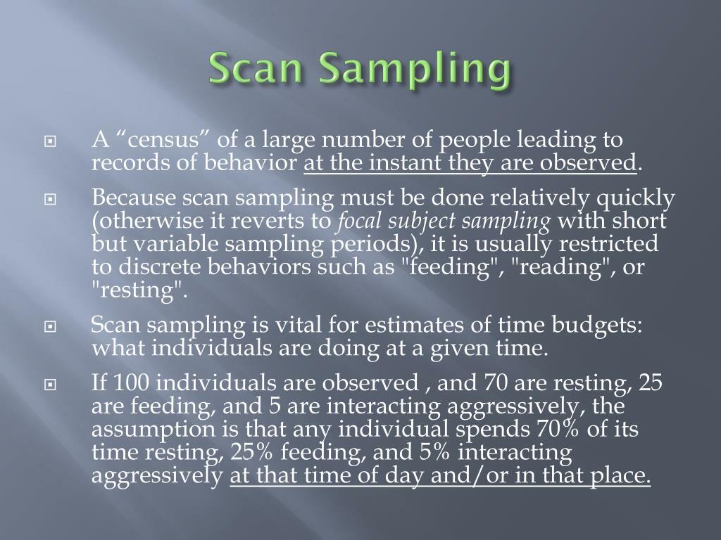 Scan Sampling