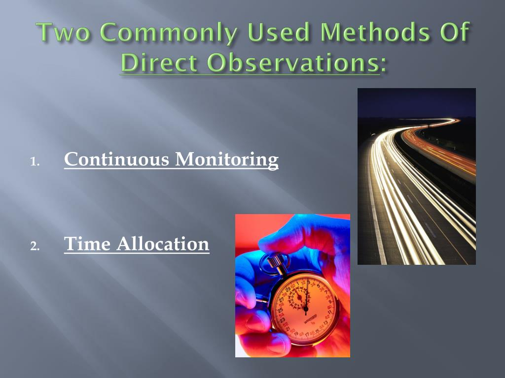 Two Commonly Used Methods Of