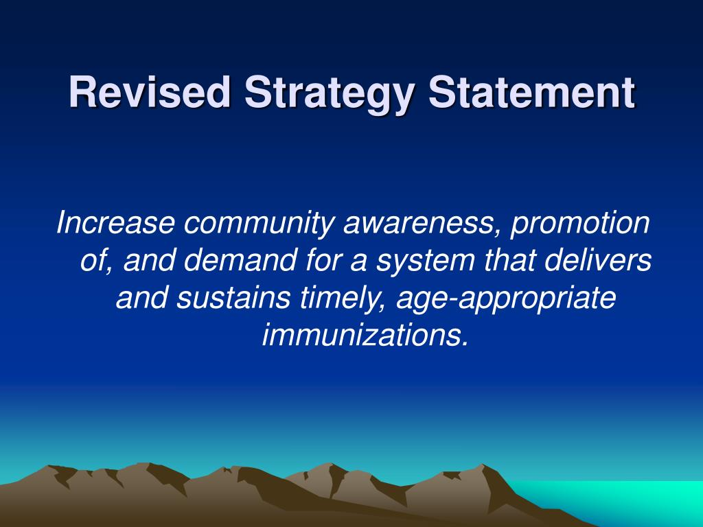 Revised Strategy Statement