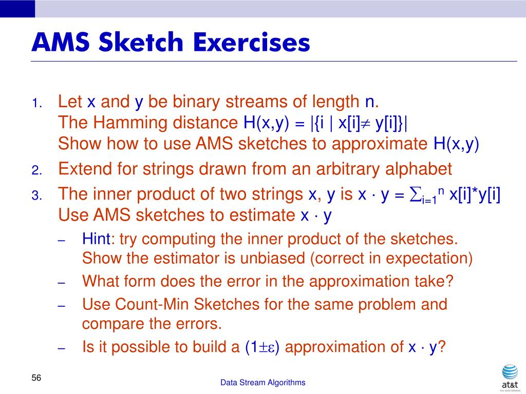 AMS Sketch Exercises