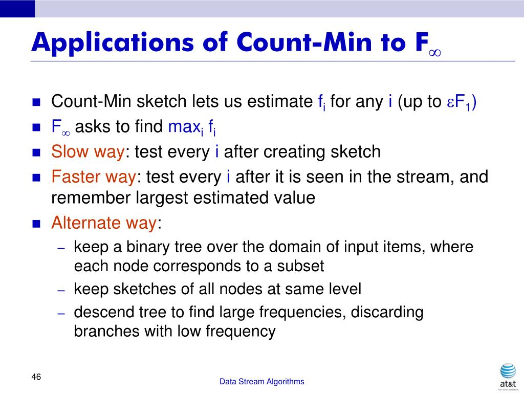 Applications of Count-Min to F