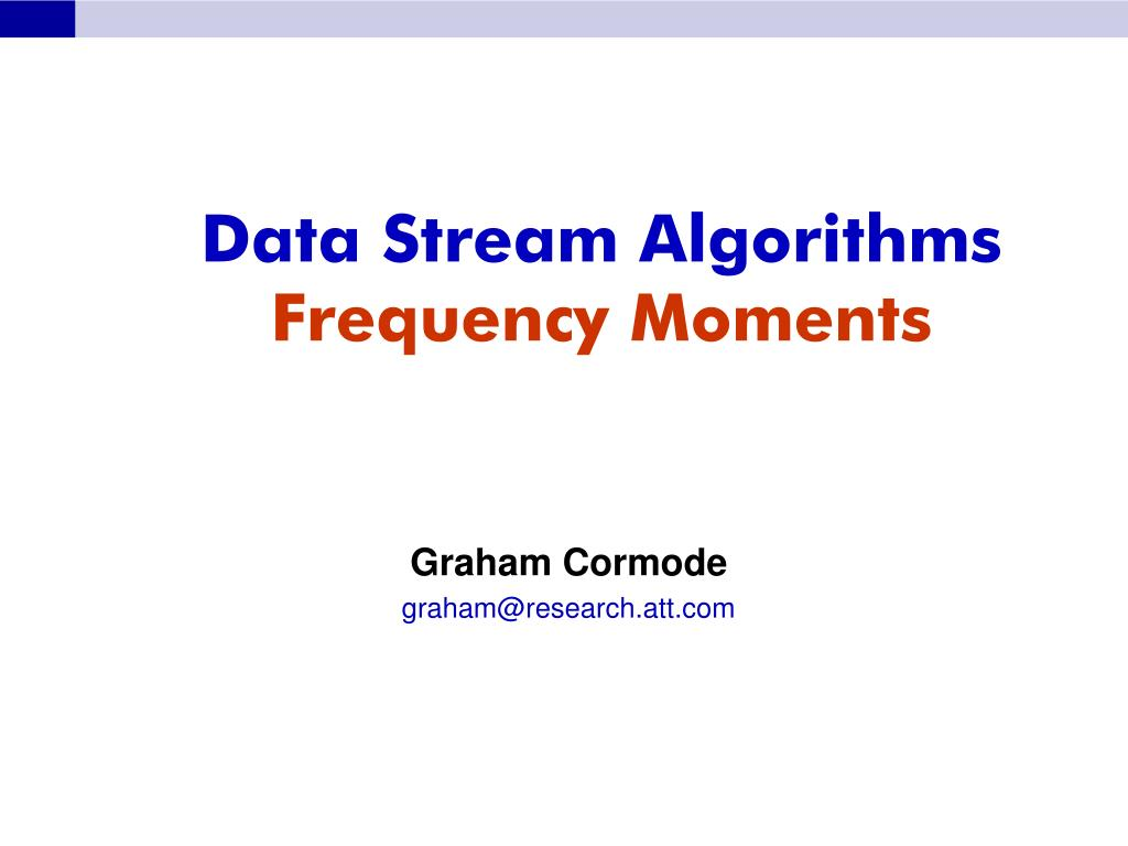Data Stream Algorithms