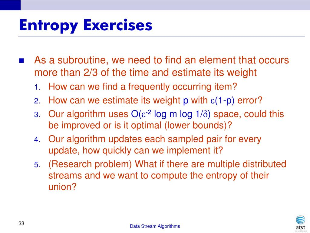 Entropy Exercises