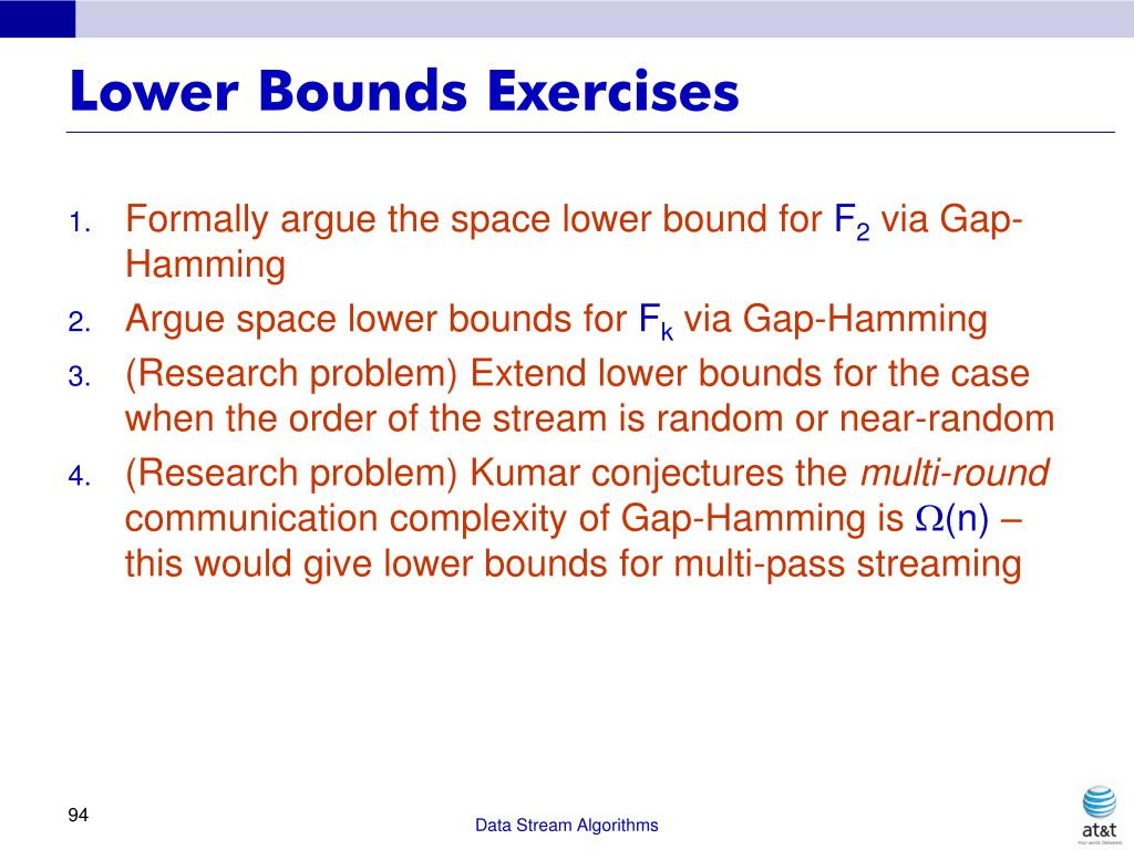 Lower Bounds Exercises