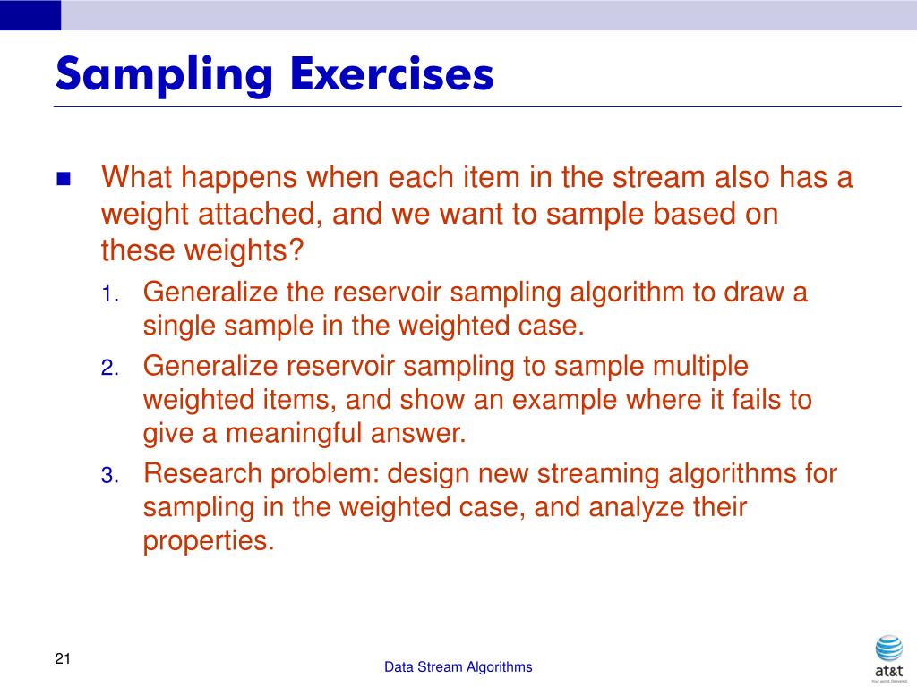 Sampling Exercises