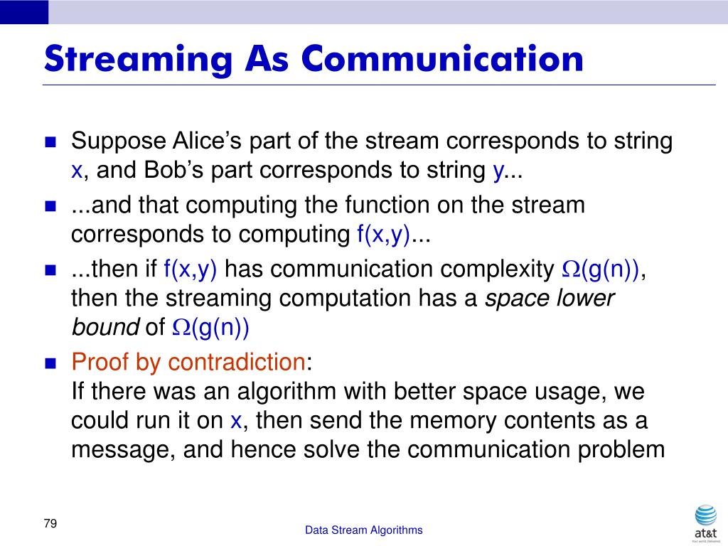 Streaming As Communication