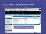 at this screen click the course you want in this example we ll select groupwise basics