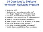 10 questions to evaluate permission marketing program