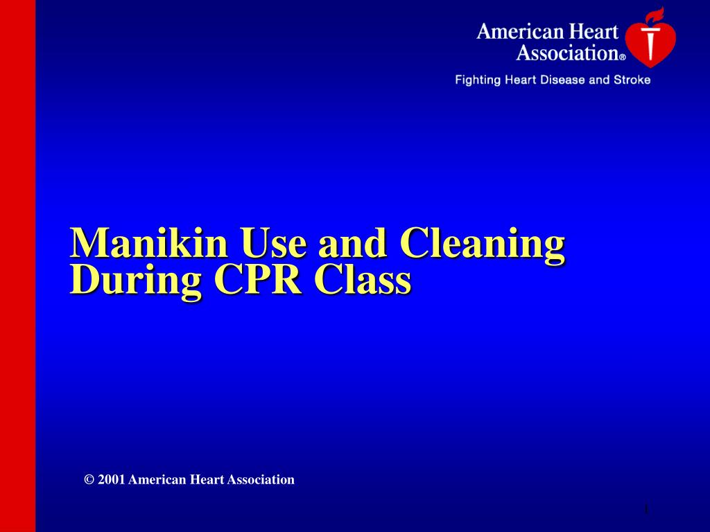 manikin use and cleaning during cpr class