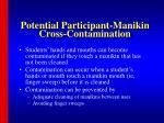 potential participant manikin cross contamination