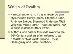 writers of realism