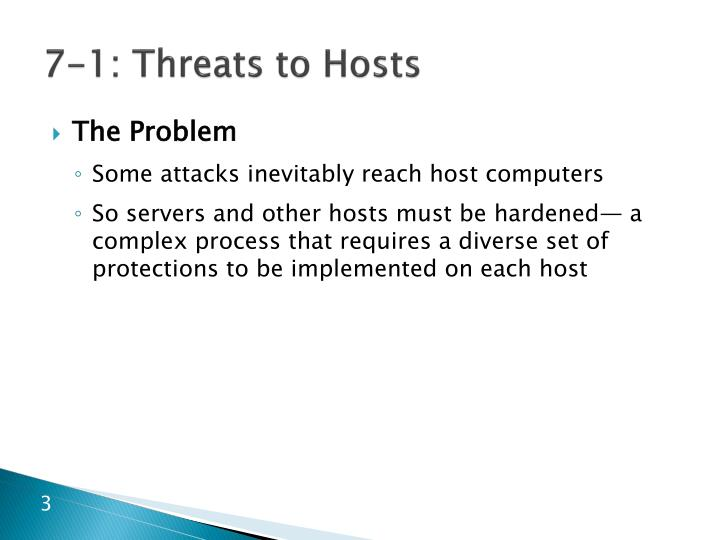 7 1 threats to hosts