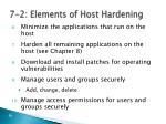 7 2 elements of host hardening6