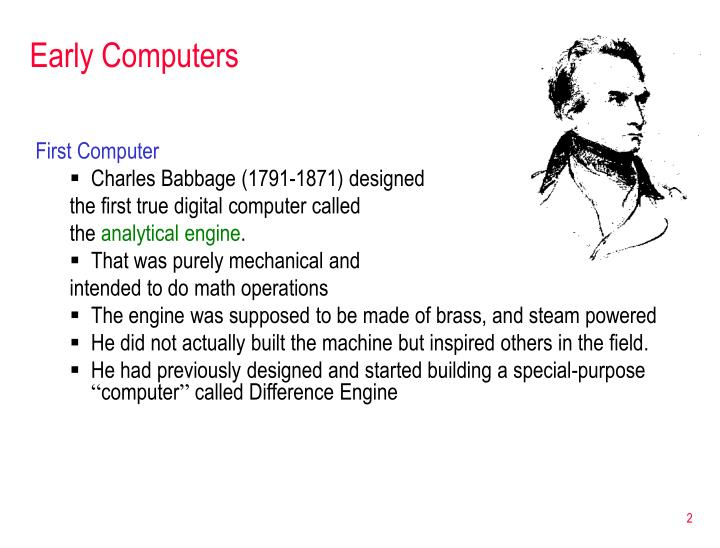 Early computers