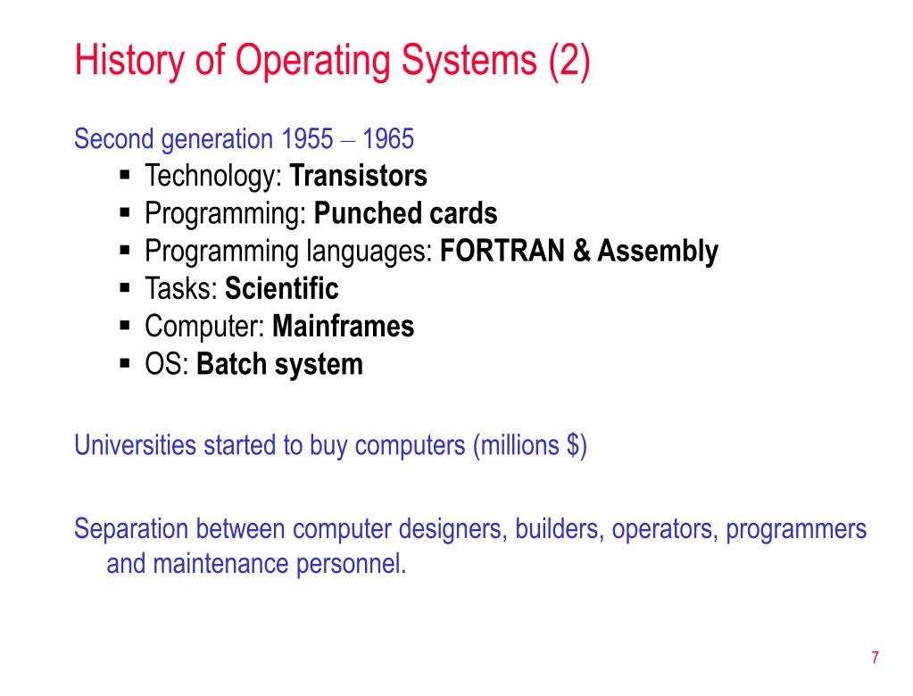 History of Operating Systems (2)