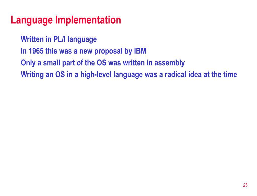 Language Implementation