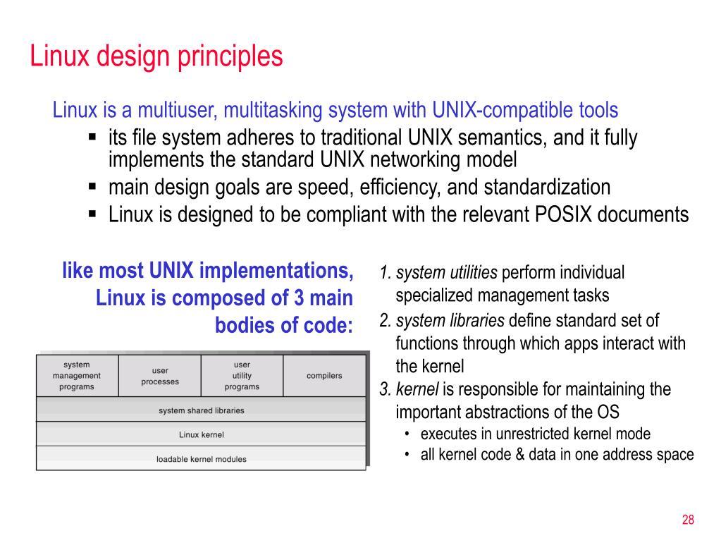 Linux design principles