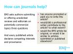 how can journals help