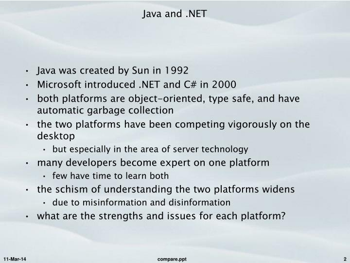 Java and net