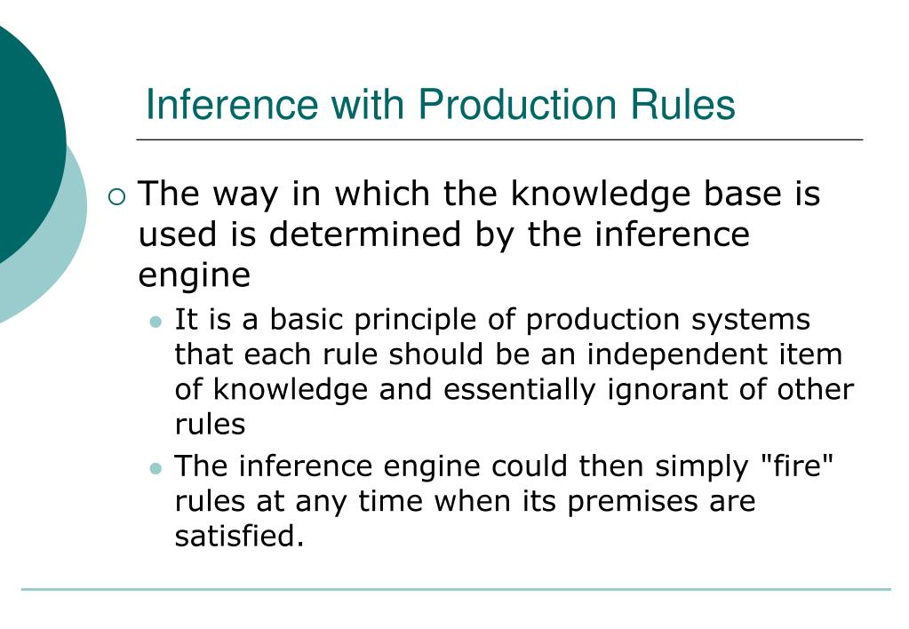 inference with production rules
