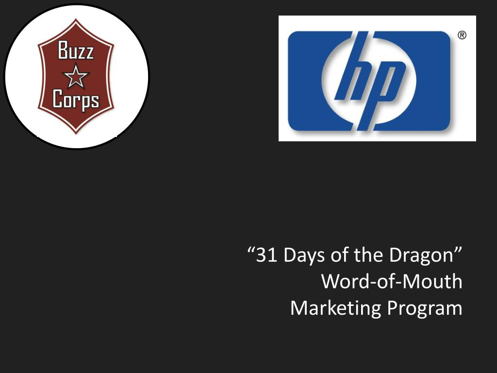 31 days of the dragon word of mouth marketing program l.