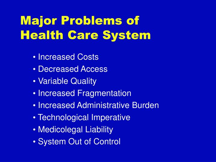 Major Problems of