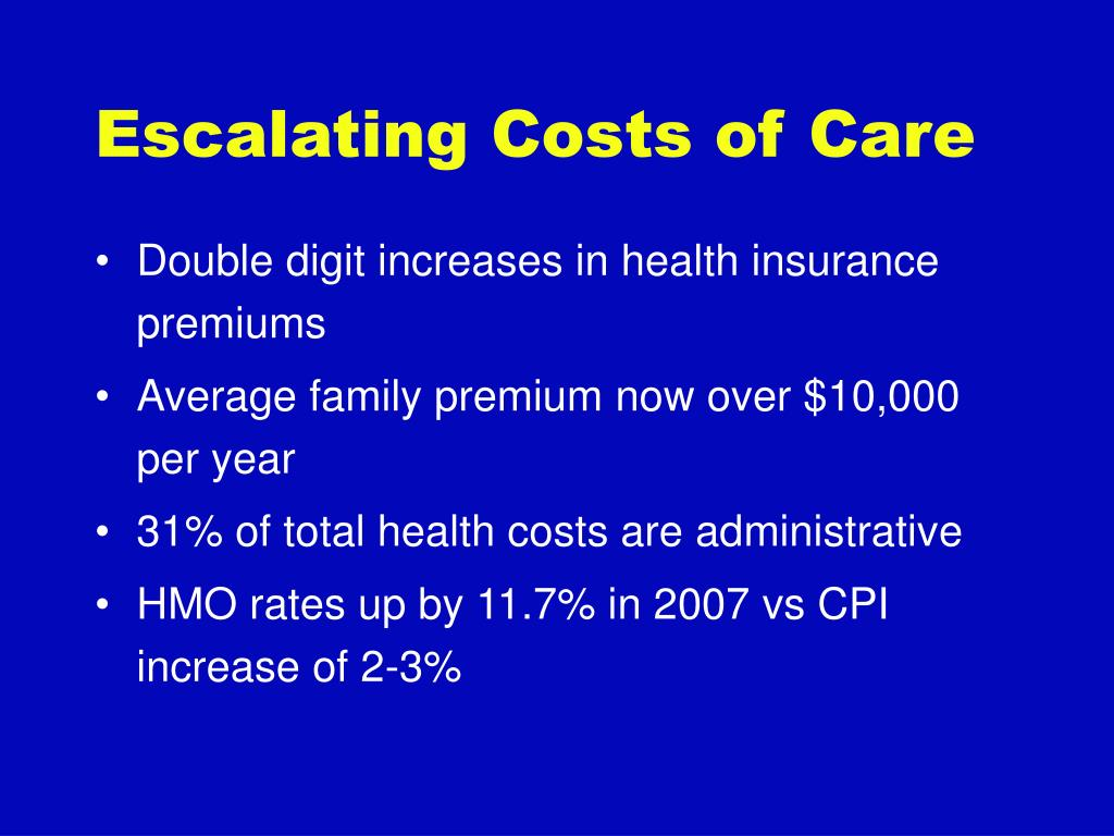Escalating Costs of Care