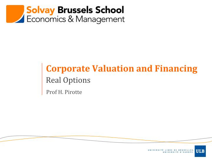 corporate valuation and financing n.