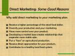direct marketing some good reasons