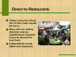 direct to restaurants