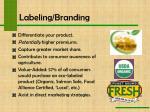 labeling branding