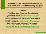washington state department of agriculture small farm and direct marketing program