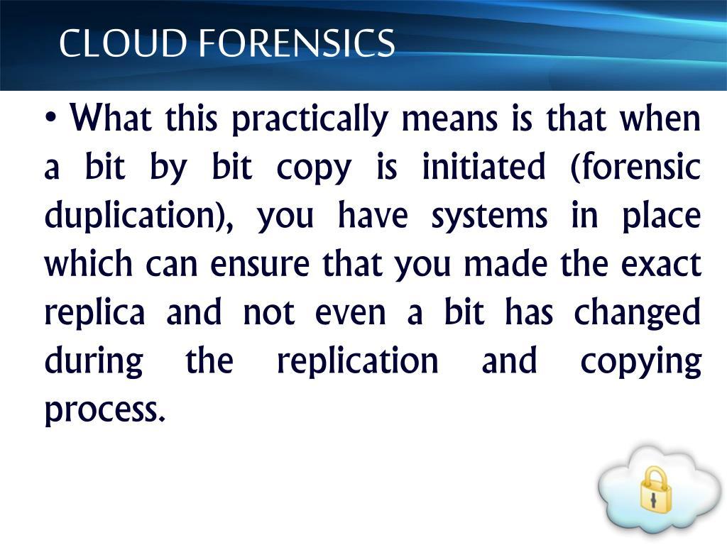 CLOUD FORENSICS