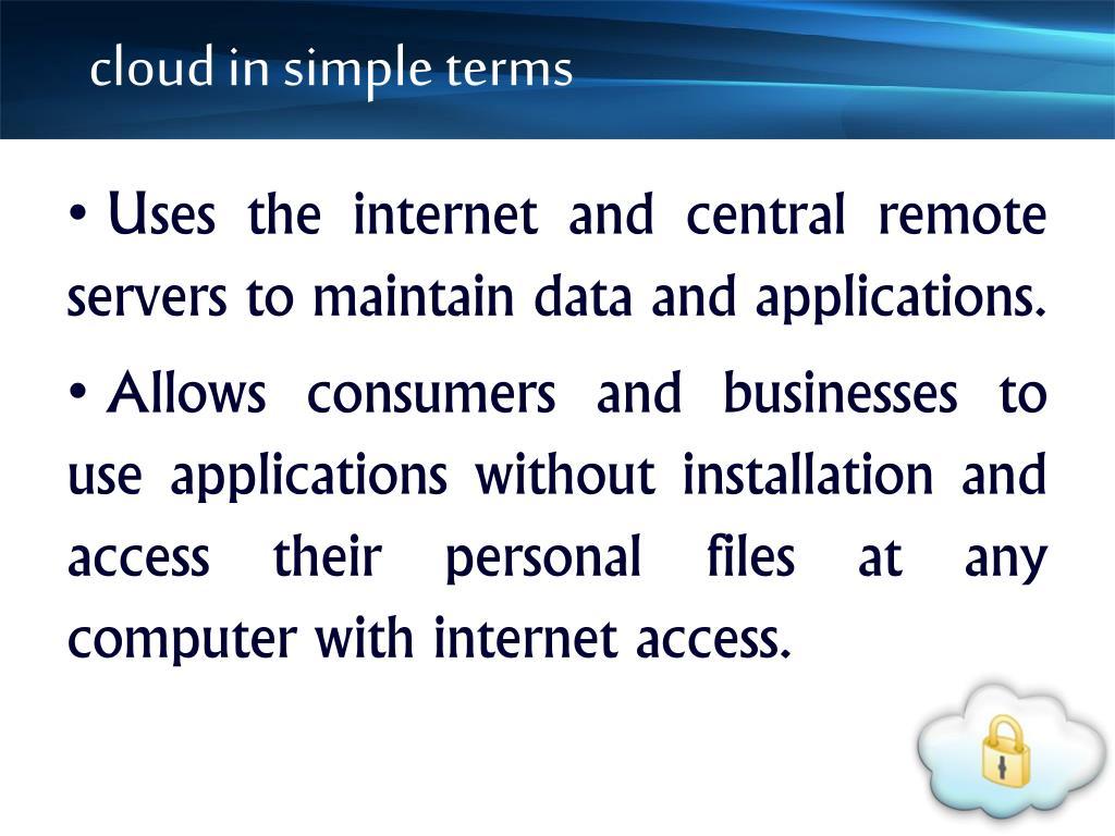cloud in simple terms