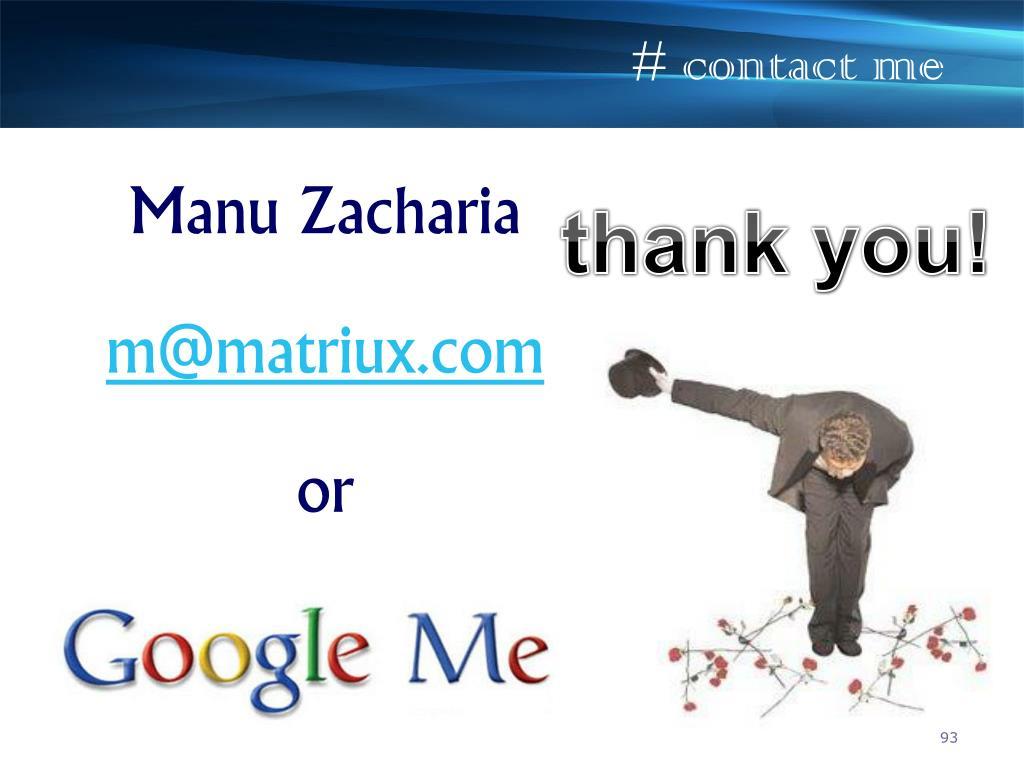 # contact me
