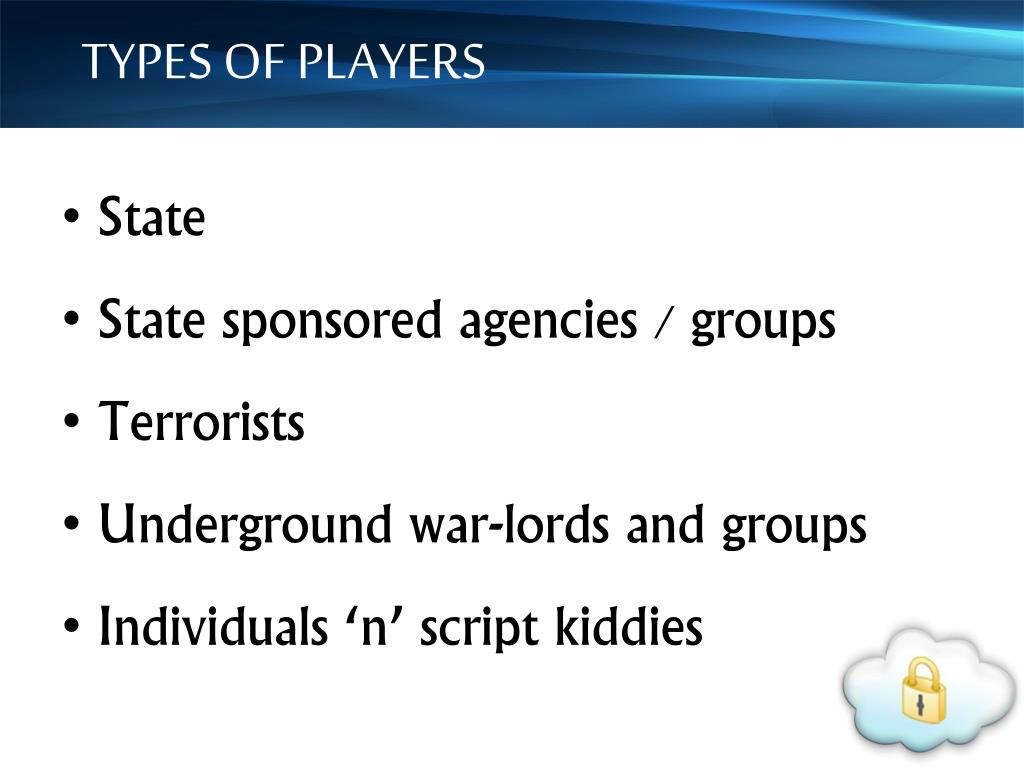 TYPES OF PLAYERS
