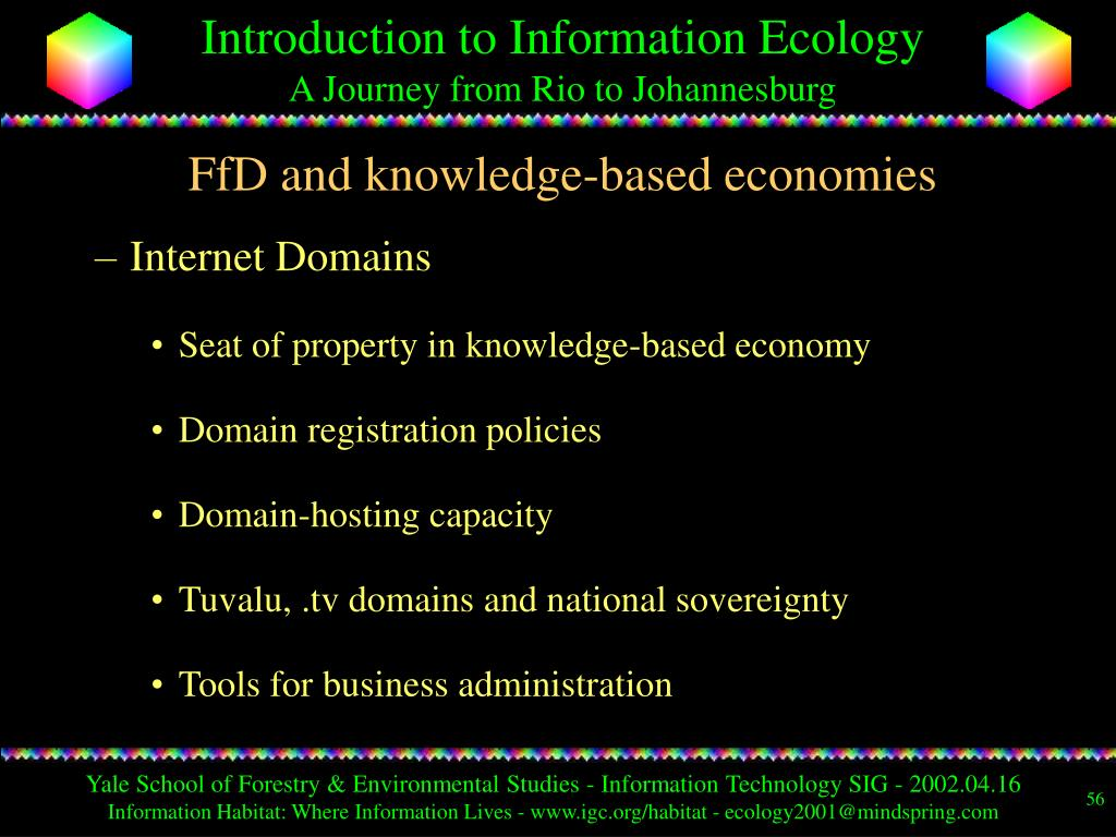 FfD and knowledge-based economies