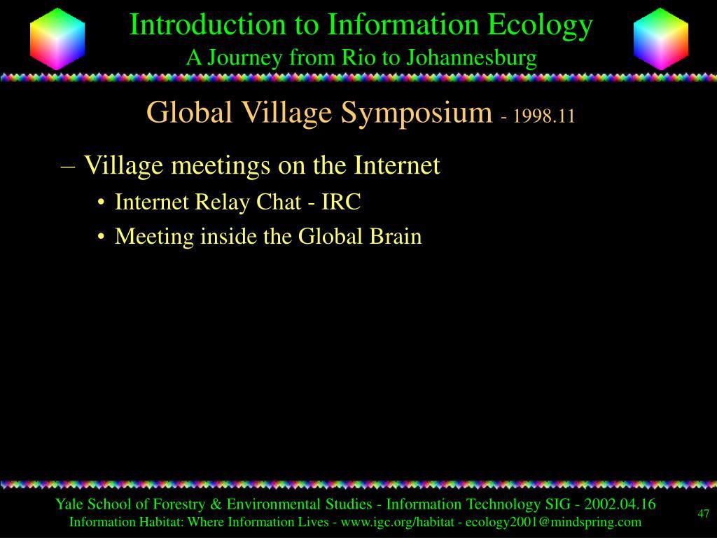 Global Village Symposium