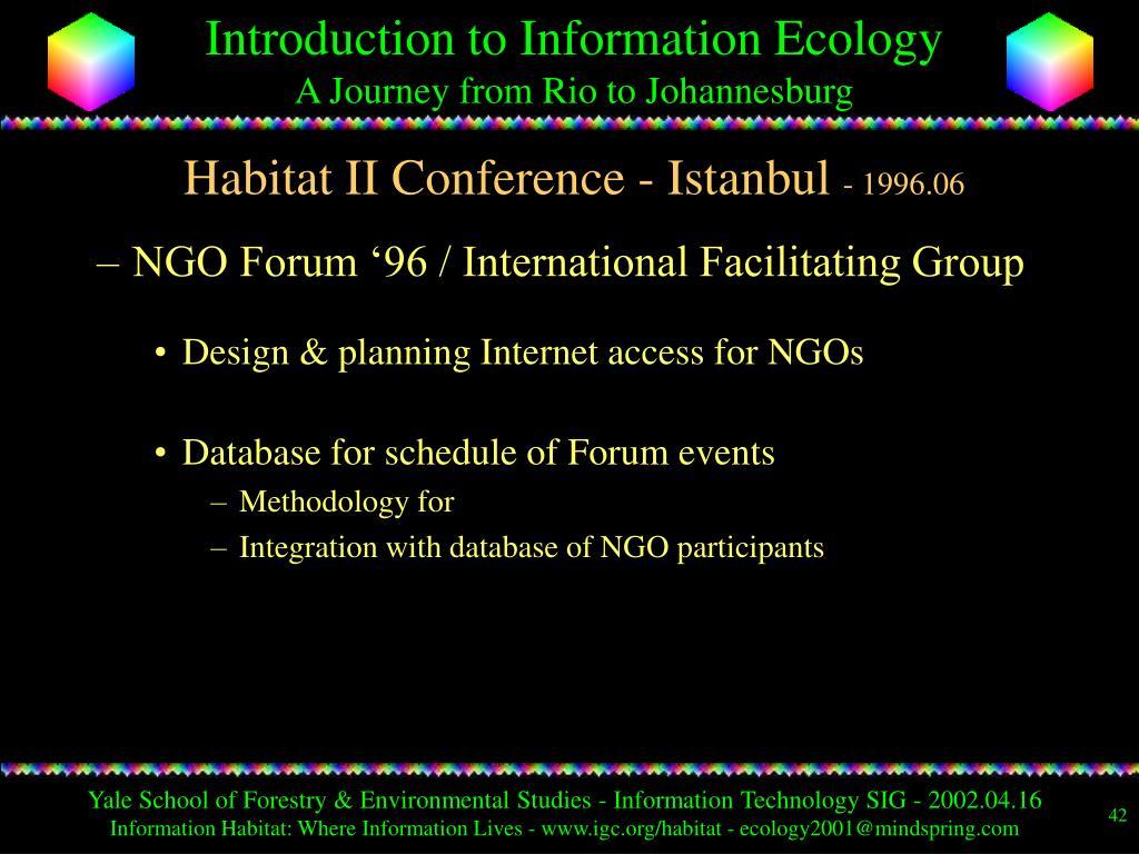 Habitat II Conference - Istanbul